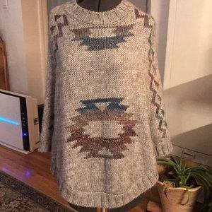 NWOT Carroll Zara wool poncho one size